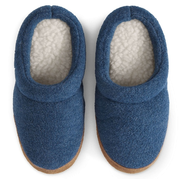 Lands'End Other - Lands'End Kids Fleece Scuff Slippers